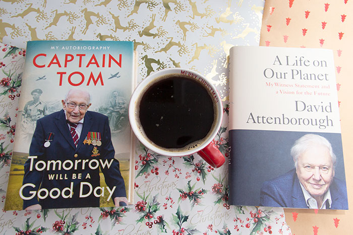 Christmas Gift Guide Books. Captain Tom and David Attenborough