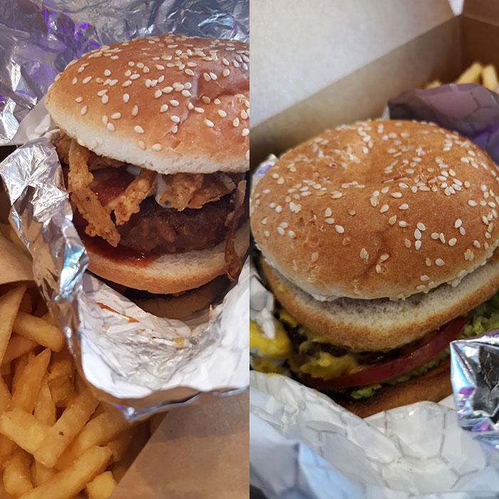 Burgers at Planet Vegan