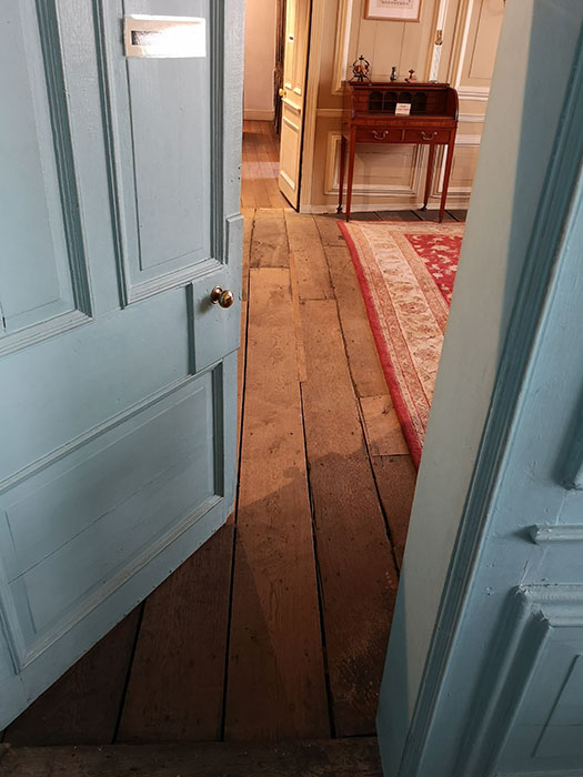 Door to the 19th century Parlour